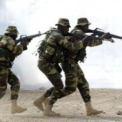 Soldats senegalais en entraiement