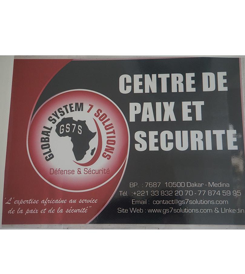 plaquette GS7S - centre de paix et securité